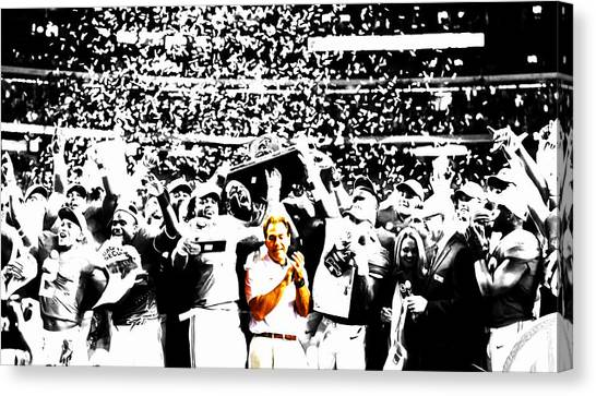 Miami University - Oxford Miami Of Ohio Canvas Print - Nick Saban by Brian Reaves
