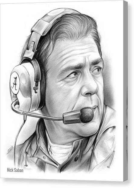 Tides Canvas Print - Nick Saban by Greg Joens