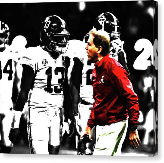 Miami University - Oxford Miami Of Ohio Canvas Print - Nick Saban Winning Tradition by Brian Reaves
