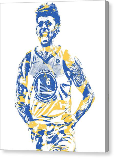 Golden State Warriors Canvas Print - Nick Young Golden State Warriors Pixel Art 1 by Joe Hamilton