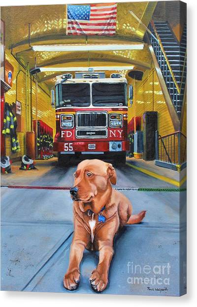 Nyfd Canvas Print - Nickels by Paul Walsh