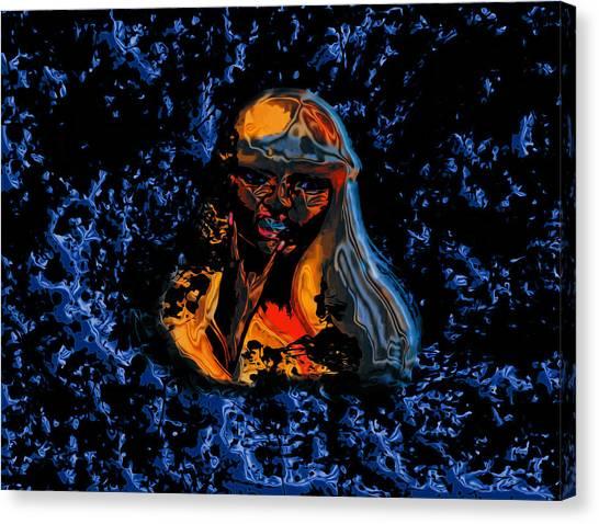 Wu Tang Canvas Print - Nicki Minaj 02a by Brian Reaves