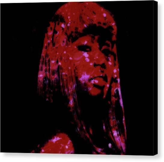 Wu Tang Canvas Print - Nicki Minaj 4a by Brian Reaves
