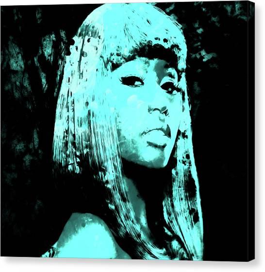 Wu Tang Canvas Print - Nicki Minaj 4c by Brian Reaves