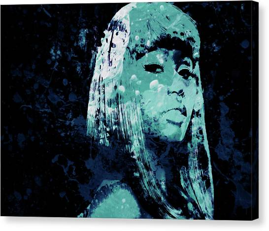 Wu Tang Canvas Print - Nicki Minaj 4e by Brian Reaves
