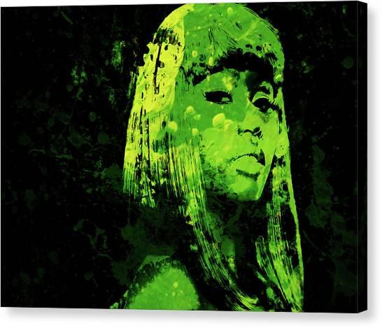 Wu Tang Canvas Print - Nicki Minaj 4f by Brian Reaves