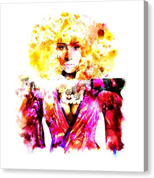 Wu Tang Canvas Print - Nicki Minaj 5j by Brian Reaves