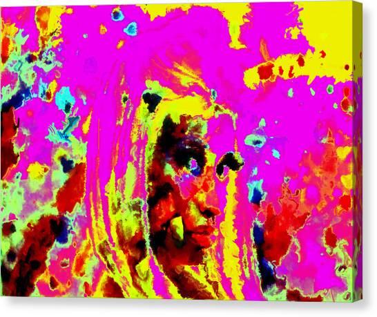 Wu Tang Canvas Print - Nicki Minaj Color Splash by Brian Reaves