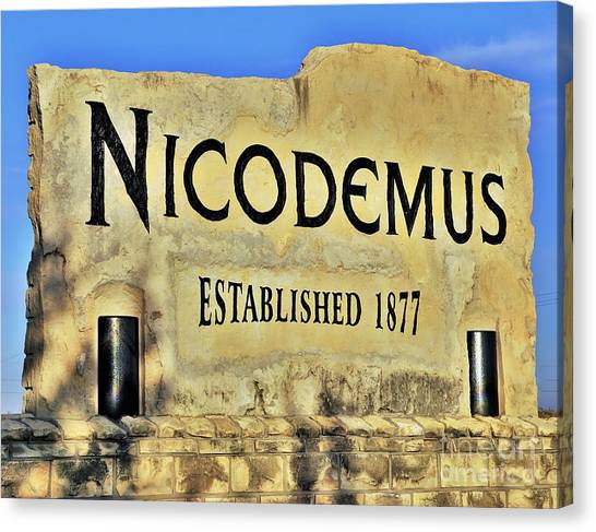 Nicodemus, 1877 Canvas Print