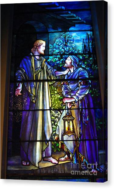 Decorative Glass Canvas Print   Nicodemus Came To Him At Night By Pg  Reproductions