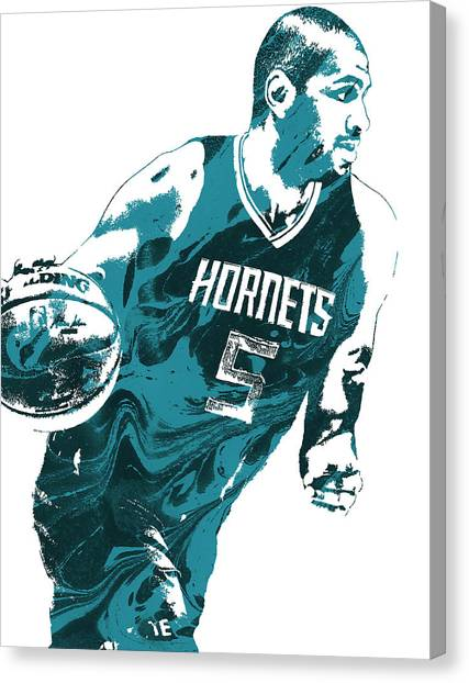 Hornet Canvas Print - Nicolas Batum Charlotte Hornets Pixel Art 3 by Joe Hamilton