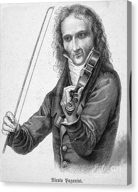 Violin Canvas Print - Nicolo Paganini by Granger
