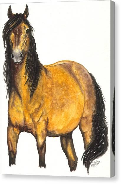 Quarter Horse Canvas Print - Nifty by Kristen Wesch