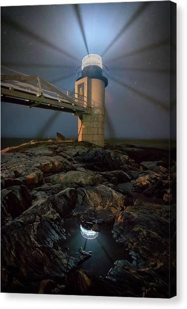 St George Canvas Print - Night At Marshall Point by Rick Berk