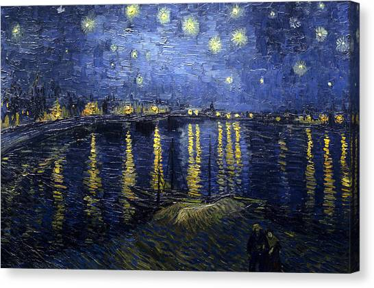 Night At The Lake Canvas Print