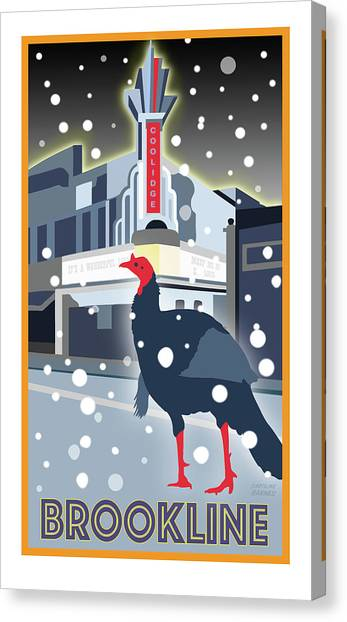 Turkeys Canvas Print - Night At The Movies by Caroline Barnes