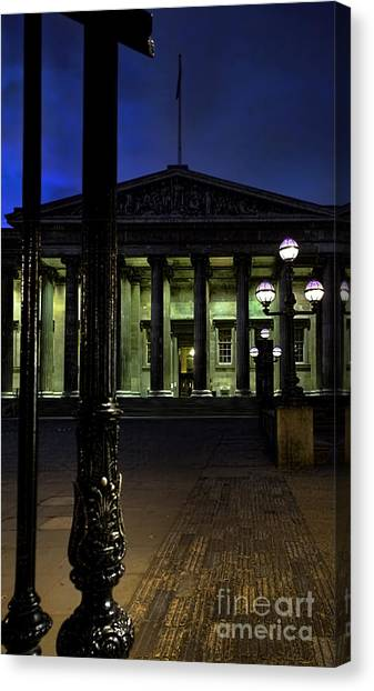 The British Museum Canvas Print - Night At The Museum by Jasna Buncic