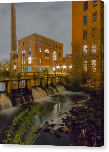 Night At The River Vertical Canvas Print
