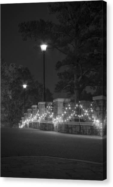 Night Bridge In December Canvas Print