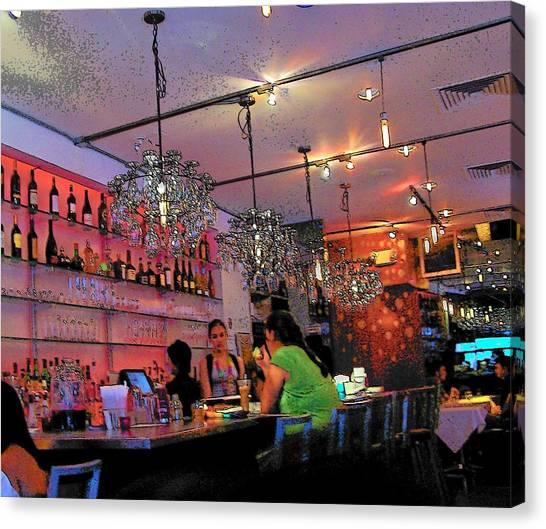 Night Cafe New York Canvas Print by Vijay Sharon Govender