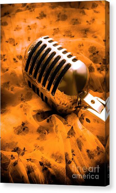 Microphones Canvas Print - Night Club District by Jorgo Photography - Wall Art Gallery