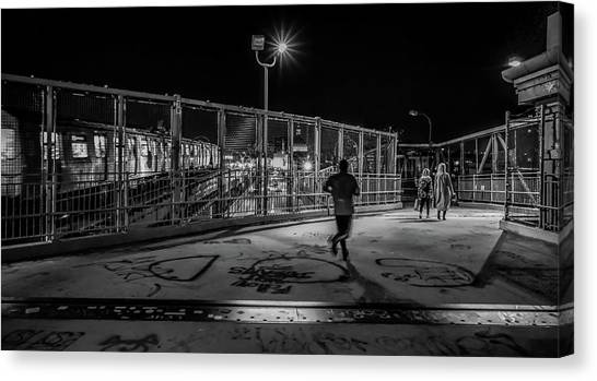 Night Commute  Canvas Print