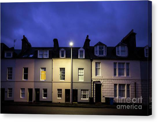 Andrew Canvas Print - Night Darkens The Street by Evelina Kremsdorf