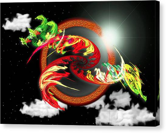 Night Dragon Canvas Print