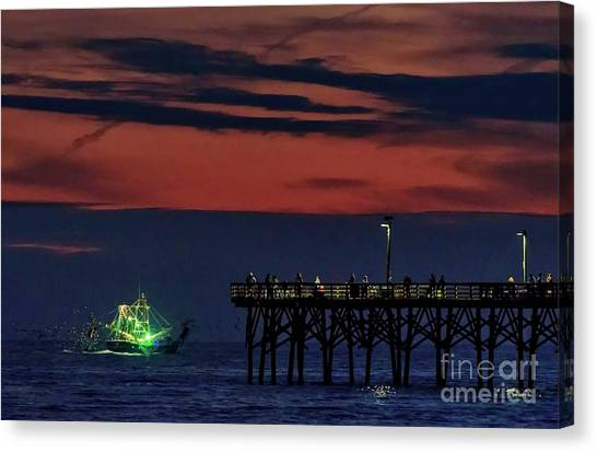 Night Fishing Canvas Print