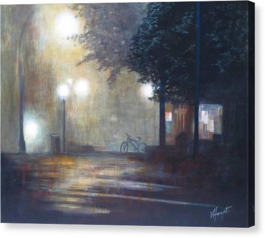 Night Fog Canvas Print by Victoria Heryet