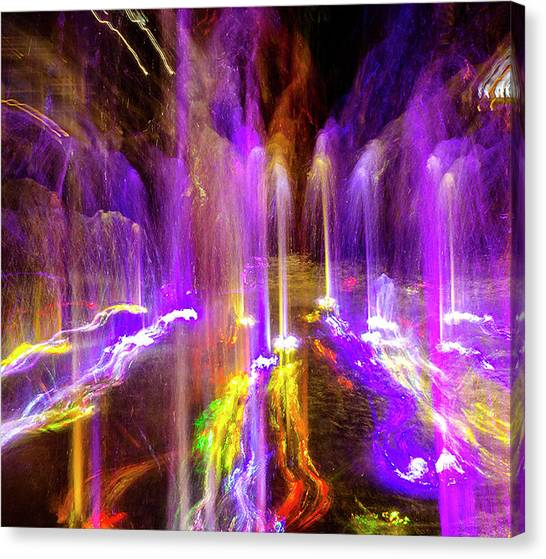Night Fountain  Canvas Print