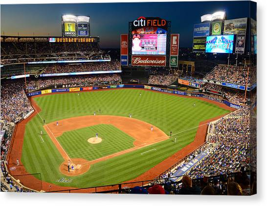 Night Game At Citi Field Canvas Print
