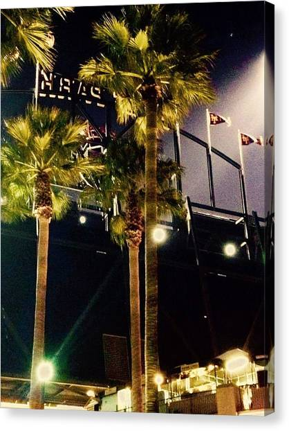San Francisco Giants Canvas Print - Night Game by Shane Allen