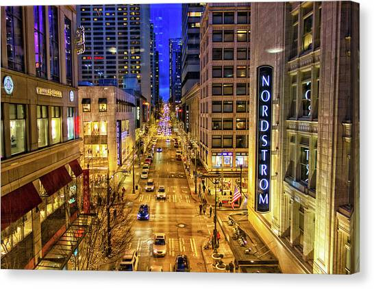 Night In Seattle Canvas Print