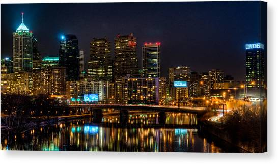 Night In The City Of Brotherly Love Canvas Print
