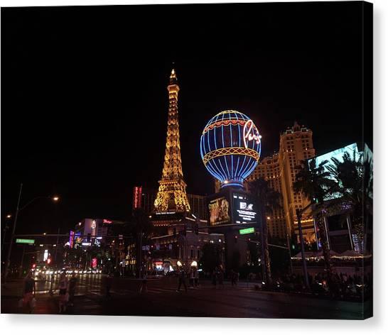 Night In Vegas Canvas Print
