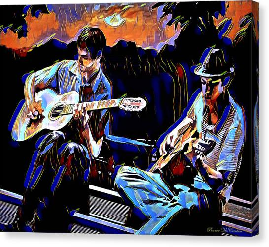 Night Jammin Canvas Print