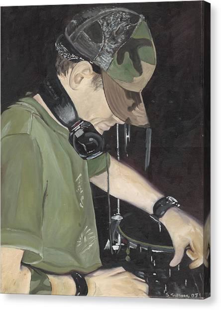 Night Job Canvas Print