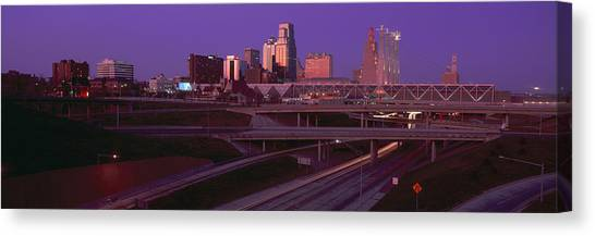Conference Usa Canvas Print - Night, Kansas City, Missouri by Panoramic Images