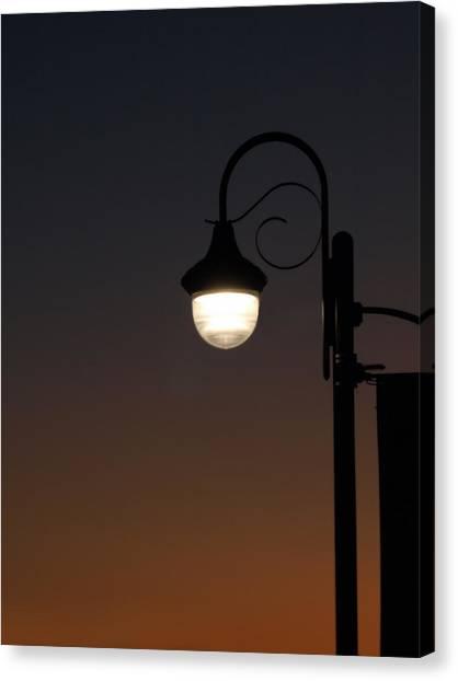 Night Light Canvas Print by Stan Wojtaszek