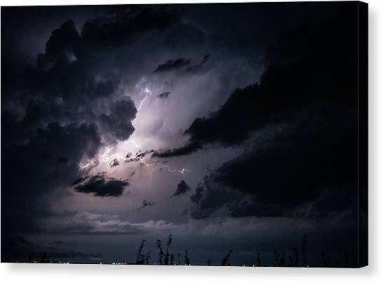 Night Lightening Canvas Print