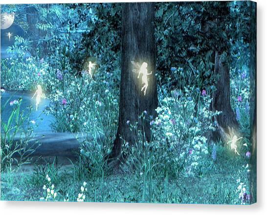 Canvas Print - Night Magic Fairy Flight by Lisa Roy