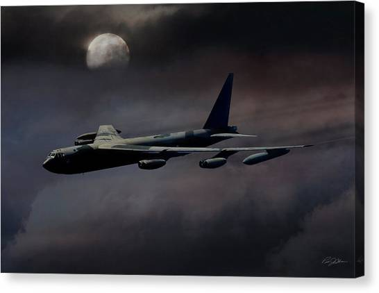 Vietnam War Canvas Print - Night Moves B-52 by Peter Chilelli