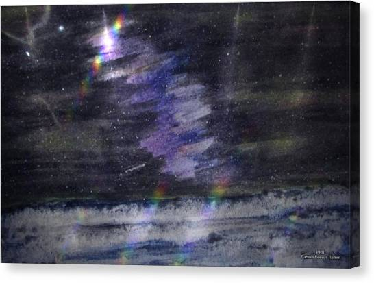 Canvas Print - Night Ocean by Pamula Reeves-Barker