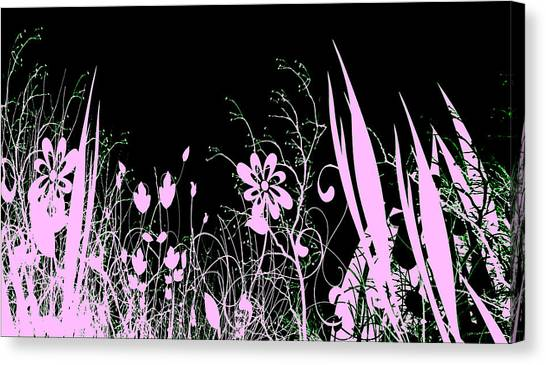 Night Of The Flowers Canvas Print by Evelyn Patrick
