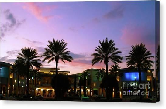 Night On The Town Palm Beach Florida Photo 515 Canvas Print