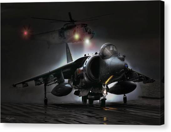 Royal Marines Canvas Print - Night Ops by Peter Chilelli