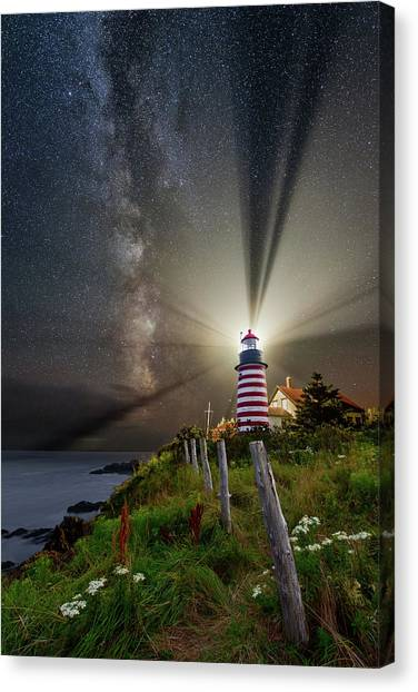 Night Over West Quoddy Canvas Print
