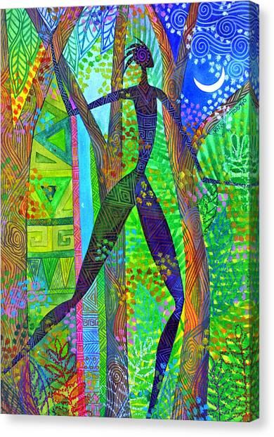 Night Quest Canvas Print by Jennifer Baird