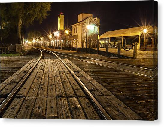 Night Rails Canvas Print
